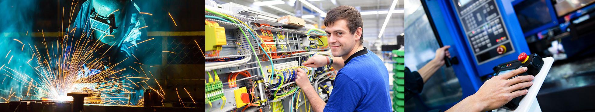 bildleiste berufsgruppen agil personalservice metallverarbeitung elektriker lagerlogistik